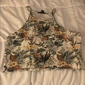 Size XL plant print Forever 21 crop top